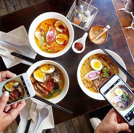 Ramen two ways. Photo credit: @Peachonomics