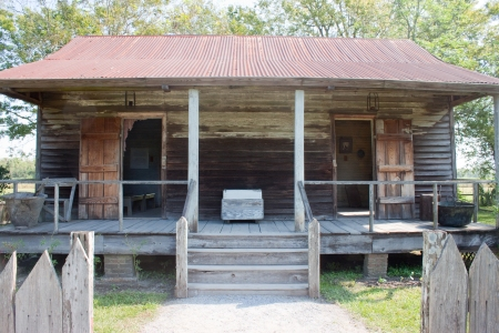 Former cabin for enslaved people in Louisiana.