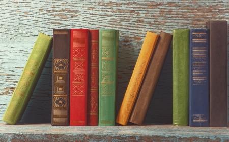 Colorful books on shelf